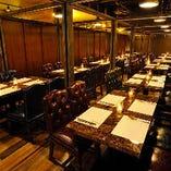 30名、40名、50名…どんな人数でご予約の際も、しっかりと個室へご案内