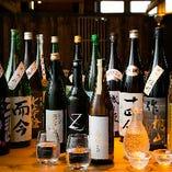 定番の日本酒から今人気の日本酒まで豊富に揃ってます!