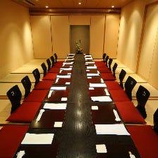 最大20名様迄対応の完全個室を完備