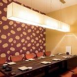 お洒落な雰囲気の完全個室を完備。女子会や合コンにもオススメ♪
