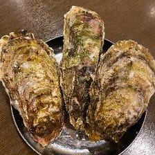 殻付き焼牡蠣3個盛り