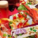 ディナー☆通常アラカルトメニュー・コース料理・飲み放題コース、豊富です!