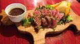 牛ロースステーキ ~ガーリックソース~