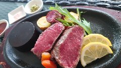 沖縄県産和牛ステーキ オニオンソース