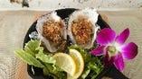 牡蠣の香草パン粉焼き