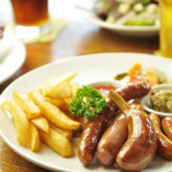Assorted Sausages & Chips