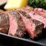 ¥5,000コース限定の鉄板霜降り肉ステーキ!!