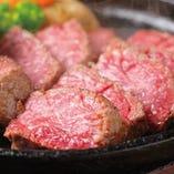 ¥4,000コースの鉄板赤身肉ステーキ!!