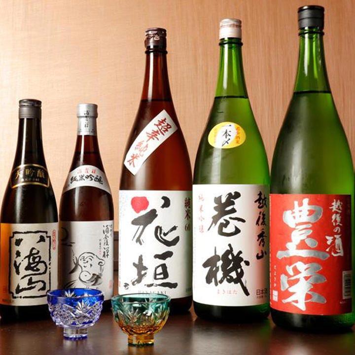 寿司との相性の良い豊富なお酒