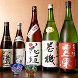 板前が握る自慢の寿司と相性の良い、こだわりのお酒をご提供
