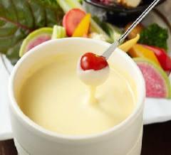 生麩とベーコンの白味噌チーズフォンデュ