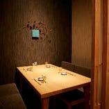 接待にも重宝するテーブル席完全個室(~4名様×4部屋)