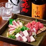 【逸品料理】 九州産の馬刺を提供◎甘めの自家製醤油で
