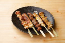 厳選鶏串5本盛り(タレ・塩ダレ)