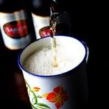 現地気分を味わえるベトナムビール。当店では2種類をご用意
