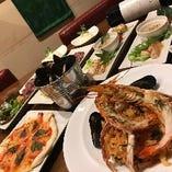 ムール貝のバケツ蒸しとリゾットのコース ¥3000〜