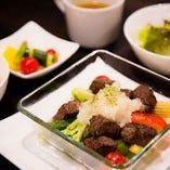 ヘルシーランチ(牛肉と野菜のグリル)