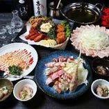 博多名物が堪能できるコース料理は2時間飲み放題付きでご提供!