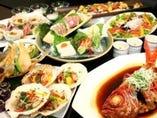 8品4500円〜2h飲み放題付きコース 豪華寿司懐石コースもございます
