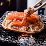 【おすすめ②】 北海道産のズワイガニの身とカニ味噌がぎっしり