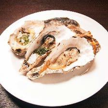 さまざまな産地の牡蠣を厳選