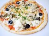 牡蠣ときの子のピザ