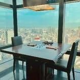 【天空の完全個室】《テーブル席:2~6名様》記念日やお誕生日、接待などのご利用に♪