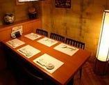 6名様テーブル/ちょっとしたお集りにも最適です。