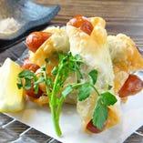長崎芳寿豚ソーセージのパリパリチーズ春巻