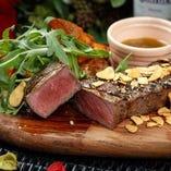 オーストラリア産牛フィレ肉のステーキ