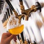 【クラフトビール】 ビールごとに一番合うグラスでご提供します