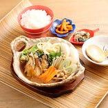 牡蠣味噌鍋お盆