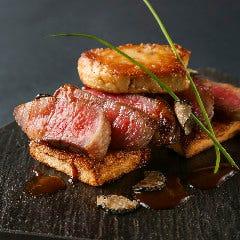 ■国産牛フィレ肉とフォアグラのロッシーニ風