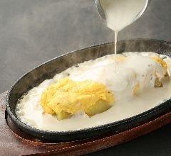 ■クワトロチーズオムレツ トリュフ香るチーズソースがけ