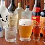一部コースに付く飲み放題プランは生ビールをはじめ20種類以上のドリンクを楽しめます