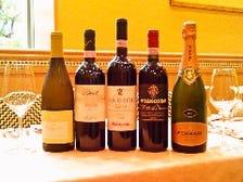 こだわりのイタリアワインが豊富
