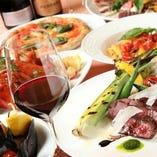 アラカルトメニューでワインと一緒にイタリアンを。