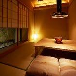 まるで旅の宿。個室を中心とした和空間が特別な時間をお約束