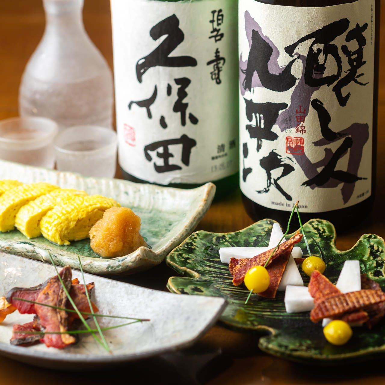 日本酒は東北の地酒を中心に様々な銘柄を取り揃えております