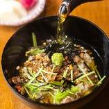 出汁茶漬け(梅、海苔、牛しぐれ)