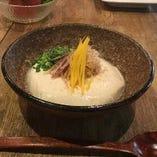 「自家製カニ入りすくい豆腐」