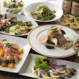 地域食材を使ったコースはお集まりに合わせカスタマイズ可能