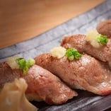 牛あぶり寿司