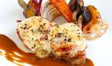 豚ロース肉のトマトチーズ焼き