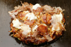 看板商品の山芋焼 自然の野菜の甘味が効いてます!