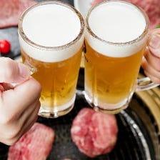 人気はビール★烏龍茶はなんと無料!