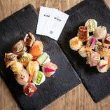 【手毬寿司】 彩り綺麗な手毬寿司はコースでも一品でも◎