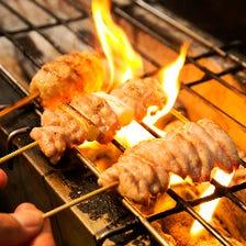旨味が溢れ出す・錦爽鶏の炭火焼