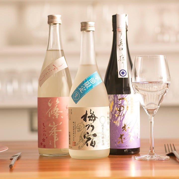 奈良県内の酒蔵から取り寄せた地酒もご用意しております