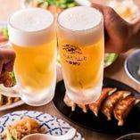 ビールで乾杯♪